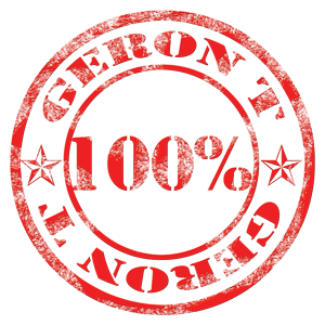 100% Geron T Rubber Stamp